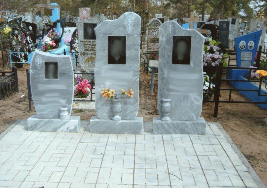 Фото памятников из мрамора производства ООО Уральский мрамор